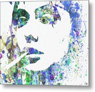Angelina Jolie Metal Print by Naxart Studio