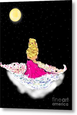 Metal Print featuring the painting Angelsheaven by Lori  Lovetere