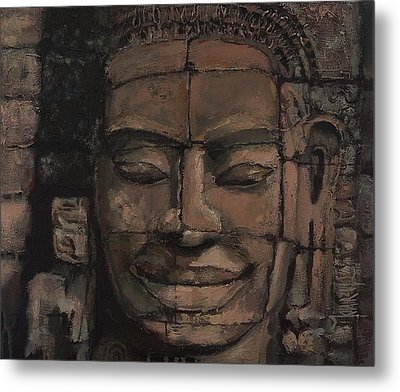 Angkor Smile - Angkor Wat Painting Metal Print by Khairzul MG