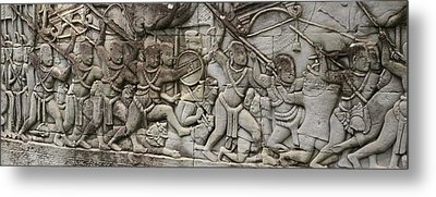 Metal Print featuring the photograph Angkor Wat - War Scene by Andrei Fried