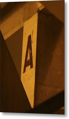 Angular A Metal Print by Artist Orange