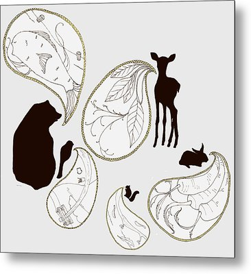 Animal Sounds Metal Print by Marcia Wood
