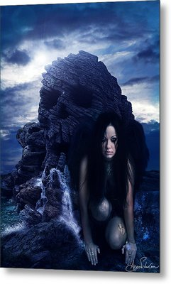 Anjo Da Morte Metal Print by Adro Von Crow