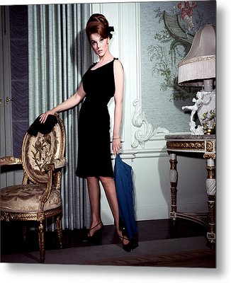 Ann-margret, In French Drawing Room Metal Print by Everett