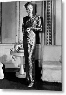 Ann Sheridan, Portrait, Circa 1946 Metal Print