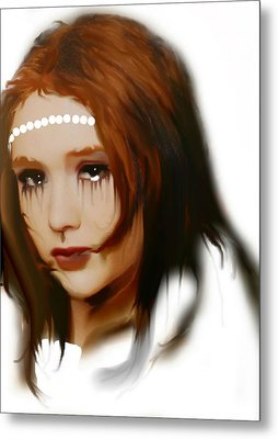 Metal Print featuring the painting Anna by Susan  Solak