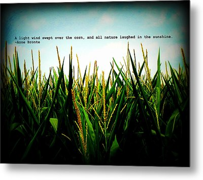 Metal Print featuring the photograph Anne Bronte's Cornfield by Robin Dickinson
