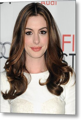 Anne Hathaway At Arrivals For Afi Fest Metal Print by Everett