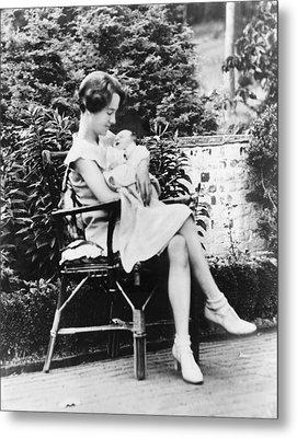 Anne Morrow Lindbergh In 1930, Holding Metal Print by Everett