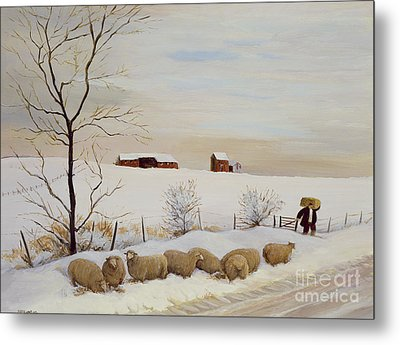 Another Hard Winter Metal Print by Margaret Loxton