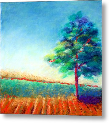 Another Tree In A Field Metal Print by Karin Eisermann