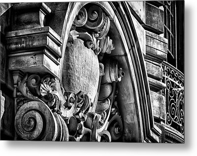 Ansonia Building Detail 19 Metal Print by Val Black Russian Tourchin