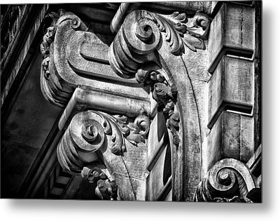 Ansonia Building Detail 21 Metal Print by Val Black Russian Tourchin