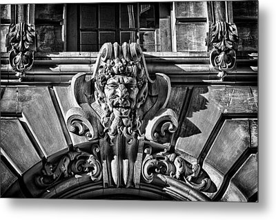 Ansonia Building Detail 3 Metal Print by Val Black Russian Tourchin