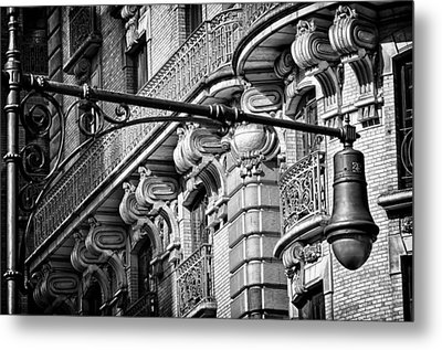 Ansonia Building Detail 35 Metal Print by Val Black Russian Tourchin