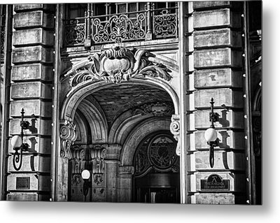 Ansonia Building Detail 4 Metal Print by Val Black Russian Tourchin