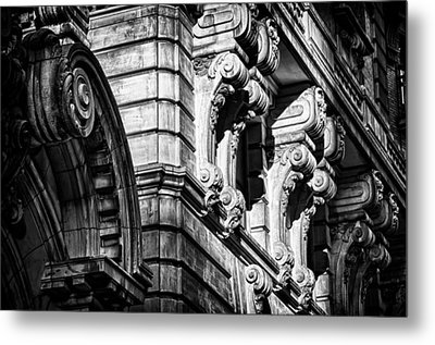 Ansonia Building Detail 8 Metal Print by Val Black Russian Tourchin