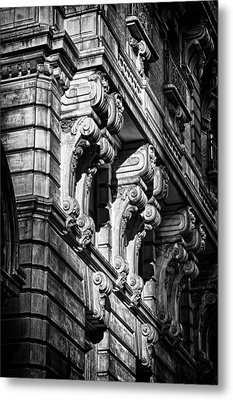 Ansonia Building Detail 9 Metal Print by Val Black Russian Tourchin