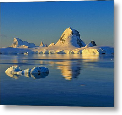 Antarctic Dusk Metal Print by Tony Beck