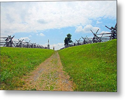 Metal Print featuring the photograph Antietam Battle Of Bloody Lane by Cindy Manero