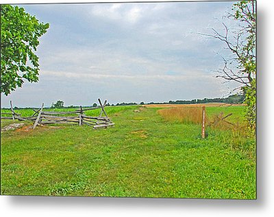 Metal Print featuring the photograph Antietam Battle Of The Cornfield by Cindy Manero