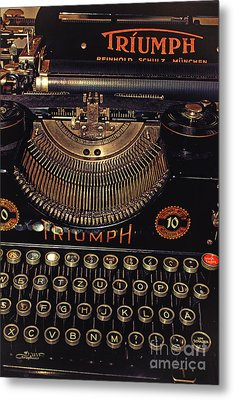 Antiquated Typewriter Metal Print by Jutta Maria Pusl