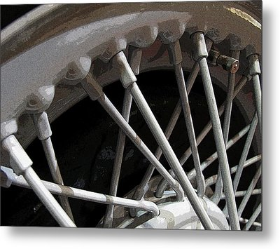 Antique Car Close-up 001 Metal Print by Dorin Adrian Berbier