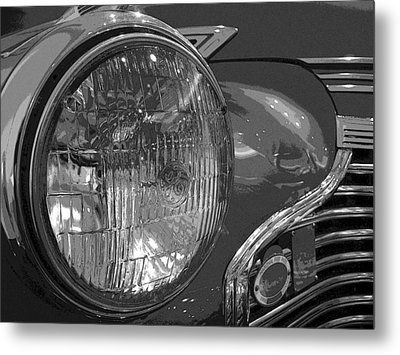 Antique Car Close-up 002 Metal Print by Dorin Adrian Berbier
