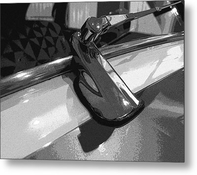 Antique Car Close-up 003 Metal Print by Dorin Adrian Berbier