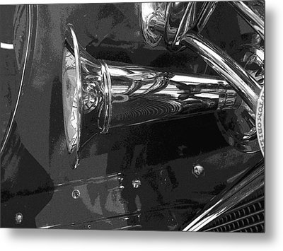 Antique Car Close-up 005 Metal Print by Dorin Adrian Berbier