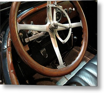 Antique Car Close-up 009 Metal Print by Dorin Adrian Berbier