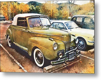Metal Print featuring the digital art Antique Car  by Mary Almond