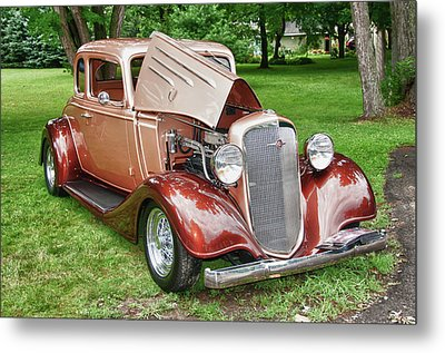 Antique Chevy  7757 Metal Print by Guy Whiteley