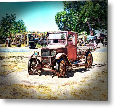 Antique Chevy Truck Metal Print by William Havle