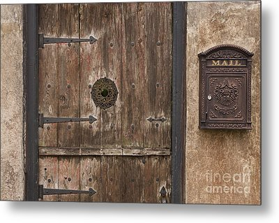 Antique Dutch Door And Mailbox Metal Print by Will & Deni McIntyre