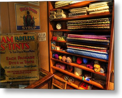 Antique General Store Linen - General Store - Vintage - Nostalgia Metal Print by Lee Dos Santos