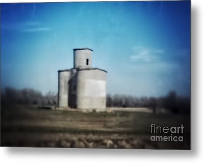 Antique Grain Elevator Metal Print by Jeremy Linot