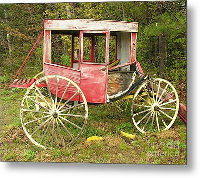 Metal Print featuring the photograph Old Horse Drawn Carriage by Sherman Perry