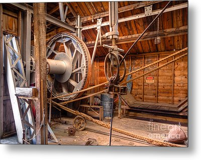 Antique Power Station Metal Print by Lawrence Burry