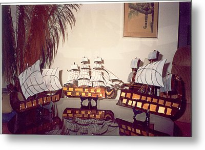 Antique Ships Metal Print by Val Oconnor