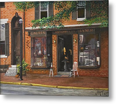 Antique Shop Greenwich Vlg Metal Print by Stuart B Yaeger