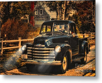 Antique Truckin Metal Print by Gina Cormier
