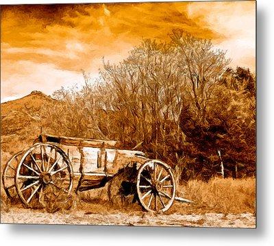 Antique Wagon Metal Print by Bob and Nadine Johnston