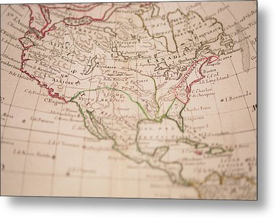 Antique World Map Metal Print by Ron Chapple