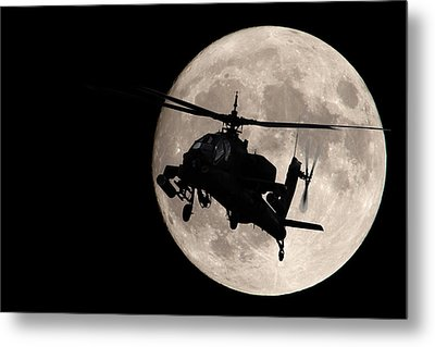 Apache In The Moonlight Metal Print
