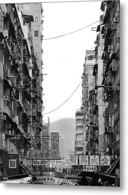 Apartment Buildings Metal Print by All rights reserved to C. K. Chan