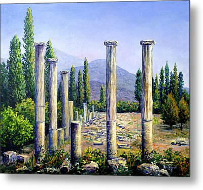 Metal Print featuring the painting Aphrodesias Ruins by Lou Ann Bagnall
