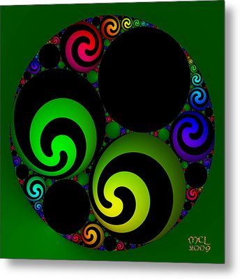 Metal Print featuring the digital art Apollonian Gasket Variant Iv  by Manny Lorenzo