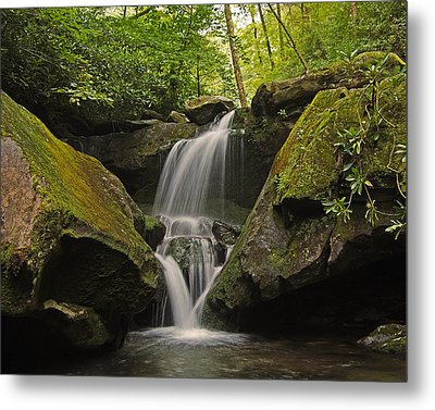 Appalachian Mountain Creek Metal Print by Ulrich Burkhalter