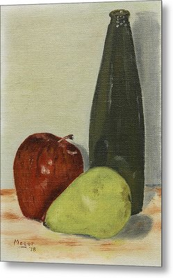 Apple And Pear Metal Print by Alan Mager